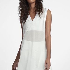 Nike Beautiful and Powerful mesh White Dress